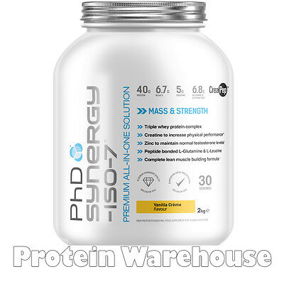 PhD Synergy ISO 7 Protein 2 kg Iso 7 All In One Protein Blowout Sale £29.95