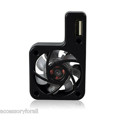 Black Mini USB Powered Cooling Fan System Cooler for Nintendo Wii U Console Game