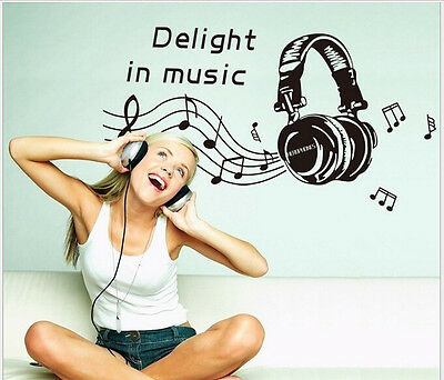 New Removable Home Decor Delight In Music Fashion Wall Sticker Decals Art Vinyl