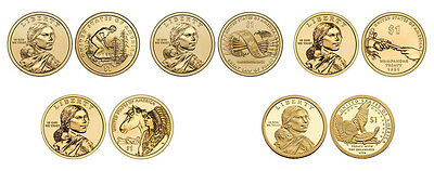 2009 - 2014  All 6  Native American Dollar Coins