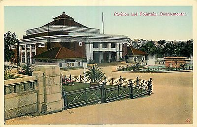 ANGLETERRE pavilion and fountain bournemouth