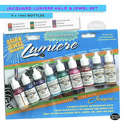 NEW Jacquard LumiereH&J Paint for Glass,Clay,Tiles,Wood &Leather 9 bright colors