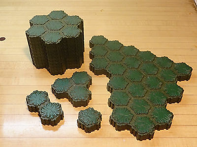 Heroscape Terrain Lot - 130 Hexes Swamp Land - Expand Your Battlefield Map