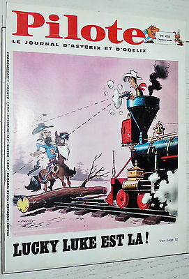 Pilote Eo N°478 2/01 1969 Pilotorama Le Poincare Asterix Tanguy Lucky Luke Greg