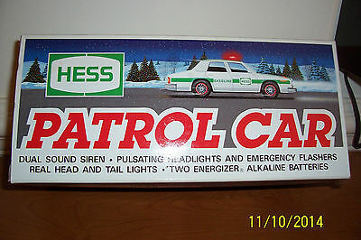 1993 Hess Toy Patrol Car - Mint in Box - Never Opened