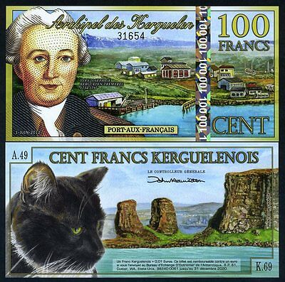 Kerguelen Island, 100 Francs, 2012, POLYMER UNC   New Holographic S/S
