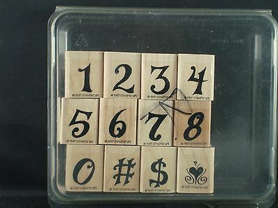 Stampin' Up rubber stamp set, ALPHABET ANTIQUES NUMBERS 1997