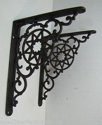 Antique Cast Iron Star Scroll Brackets 9 Pointed *Star architectural hardware • CAD $752.59