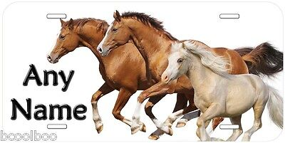 Three Horses Gallop Personalized Aluminum Novelty Car License Plate P15