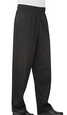 Chef Works Classic Fit Basic Baggy Chef Pants Black Nbbp