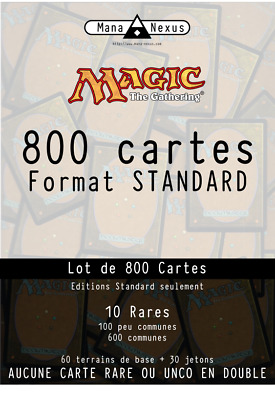 MTG Magic LOT - 800 cartes Standard dont 10 rares, Ixalan à Guildes de Ravnica