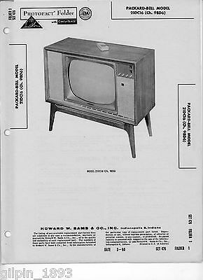 Packard-Bell Model 21DC16 (Ch. 98D6) Television - Photofact
