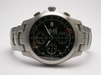 f40b3155ddf9 TAG HEUER LINK Chronograph Stainless Steel Automatic Mens Watch Style   cjf2110 -  2