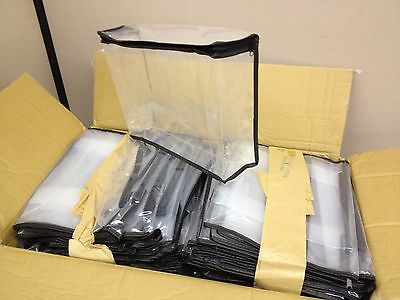 CASE of 250 Zippered PEVA Clear Plastic Retail Packaging Bags 11x9x3 Cube Block