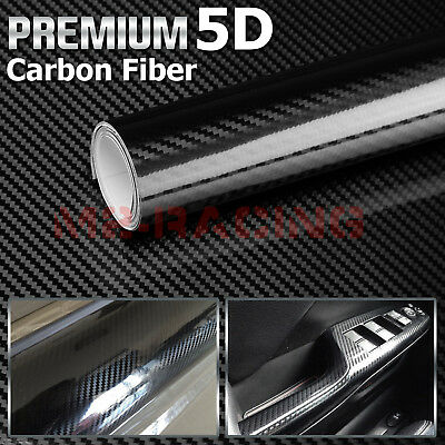 "2pcs 5""x10"" 5D Gloss Black Carbon Fiber Chevy Bowtie Emblem Vinyl Decal Sticker"