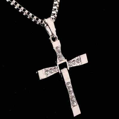 Cool Unisex's Men Stainless Steel Cross Pendant Necklace Chain Silver/Gold