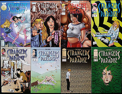 Strangers in Paradise v3 1 2 3 4 5 6 7 8 Homage Comics Image  '96/97 Terry Moore