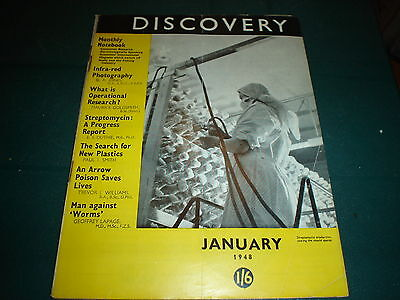 Vintage Discovery Magazine January 1948 Infra-Red Photography