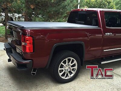 TAC Tonneau Cover Tri-Fold Fit 14-17 Chevy Silverado/GMC Sierra 6.5' Short Bed