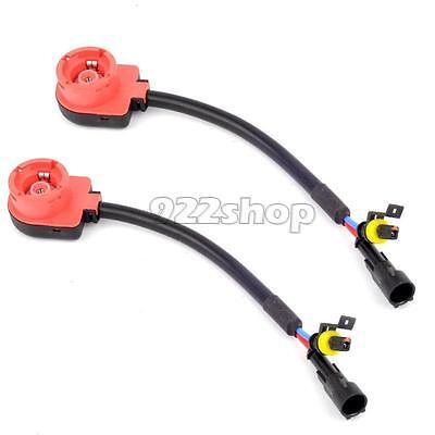 2 X D2S D2R D2C Xenon Hid Bulb Socket Cable Adaptor Harness Sp2G