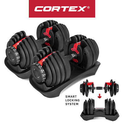 Lifespan Fitness 105LB (48KG) Adjustable Dumbbell Set Pairs for Home Gym Weights