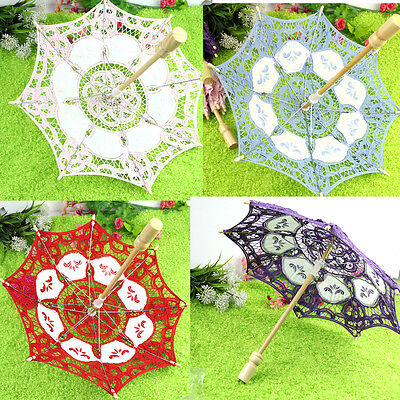 Party Decoration Lace Parasol Embroider Umbrella Wedding Bridal Decorate