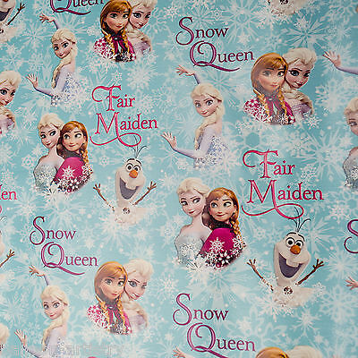 2m Christmas Disney Frozen Elsa Anna Olaf Party Gift Wrap Wrapping Paper Roll