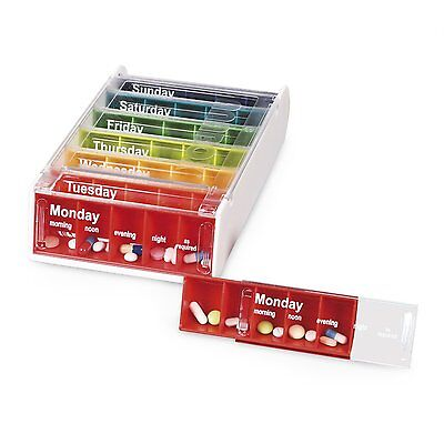 Anabox 7 Day/Weekly Pill Boxes in Various Colours