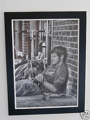 High Quality A2 poster print - Guy Martin taking a break -  TT rider