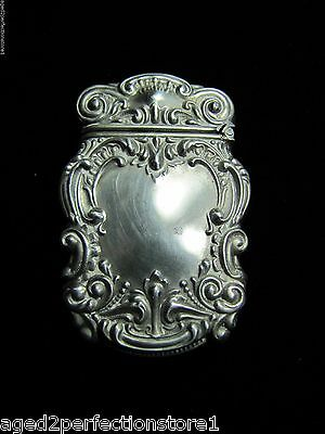 Antique Art Nouveau STERLING Silver Match Trinket Holder wonderful ornate design