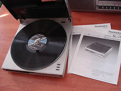 """Technics SL-J1 Fully-Automatic Turntable  12""""x12"""" Original Manual Free Delivery*"""