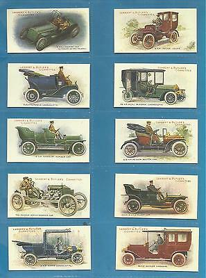 Lambert & Butler cigarette cards - MOTORS - Full mint condition set.