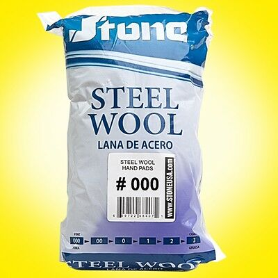 12pc Steel Wool Hand Pads #000 - Extra Fine - Buy more than 1 and SAVE!
