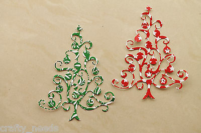 6PC - Christmas Tree Paper  DIE Cuts Scrapbooking - NOT a DIE