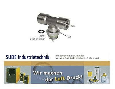 Pneumatic Push Stainless Steel Cylinder Thread in Different Sizes