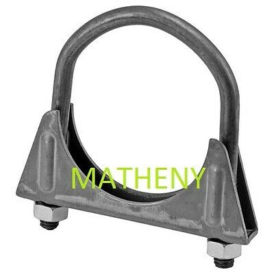 """Victor Muffler Clamp 2.5"""" Exhaust Tail Pipe Steel Metal U-Bolt Bands 00829 2 1/2"""