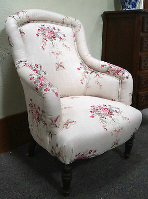 CHARITY AUCTION: French Antique Armchair in KATE FORMAN ' Isobella'