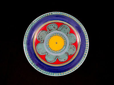 Older Desimone Italy Mid Century Art Pottery Plate with Flowers