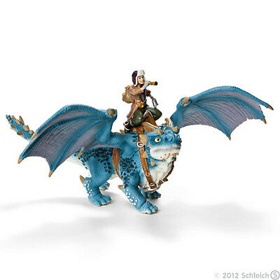 *NEW* SCHLEICH Bayala 70445 Blue Dragon & Shansy Rider 28cm - Elves - RETIRED