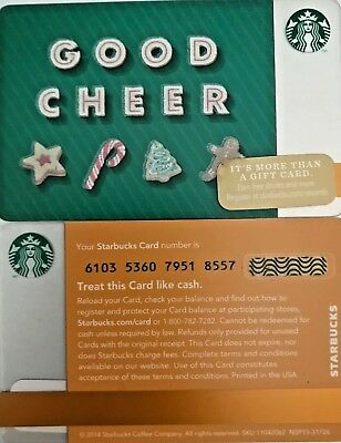 """New 2014 Starbucks """"good Cheer"""" Gift Card Limited Edition No Value Mint"""