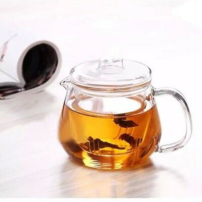 Glass Teapot with Removable Infuser and Lid, 18.6oz.-20oz., for Custom tea set