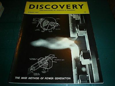 Vintage Discovery Magazine August 1961 Stock Clearance