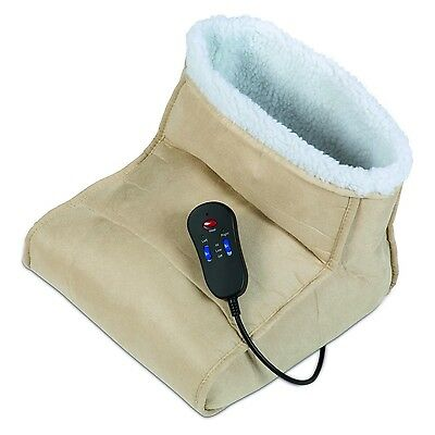 Carmen C84003 Dual Powerful Electric Heated Soothing Foot Warmer And Massager