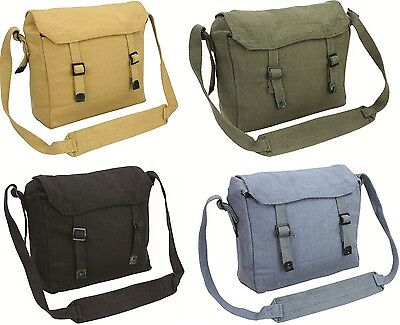 NEW Small Canvas Webbing Haversack  fishing satchel Daysack military messenger