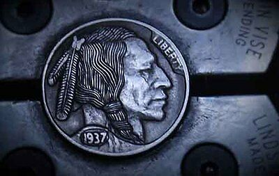 Coalburn classic Hobo Nickel engraved Indian  Brave  OhNs