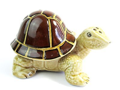 Turtle Ceramic  Salt & Pepper Shakers - 2 Pieces Shell for Salt/Turtle Pepper