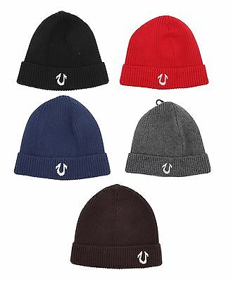 23e15ab3e7c True Religion brand Jeans Soft knit Beanie Hat TR1704 Black brown blue Grey  Red