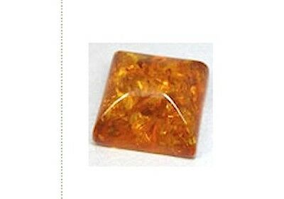 Square Cabochon Natural (Genuine) RIch Golden Baltic Amber  (4x4mm -10x10mm)