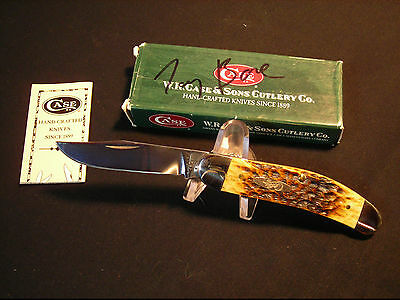 VINTAGE CASE XX USA TONY BOSE SIGNED BOX SOW BELLY KNIFE UNUSED IN BOX !!