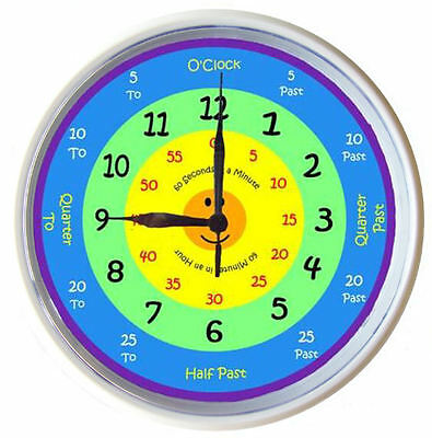 Learn to tell time What the Time Clock by KIDS ART 25cm